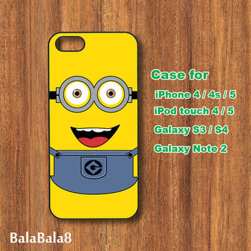 Minion ,Despicable me - iPhone  4 case, iphone 5 Case, iPod case,  iPod 5 case,  Samsung Galaxy S3 case, Galaxy S4 case, Galaxy note 2 case