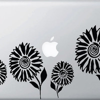 Sunflowers Vinyl Decal for Macbooks, Laptops and More...