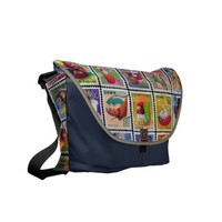 Cute Japan Year of Animal Stamp Pattern Courier Bag from Zazzle.com
