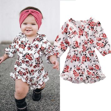 Baby Girls Floral Jumpsuit