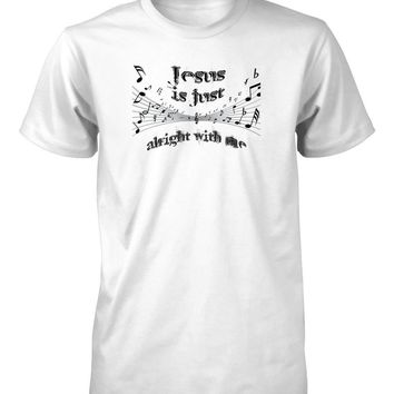 Jesus is Just Alright Friend Music Notes Gospel Classic Rock Christian T-Shirt for Men