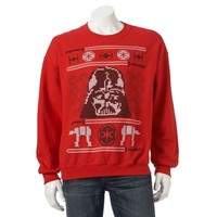 STAR WARS Darth Vader UGLY Christmas SWEATER Lack of Faith SWEATSHIRT Logo FORCE
