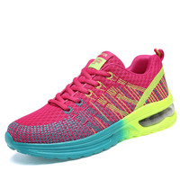 Strips Women Running Shoes 2017 New Lady Purple Pink Breathable Athletic Sneakers Outdoor Trainer Sport Shoes Size 35-40 A11