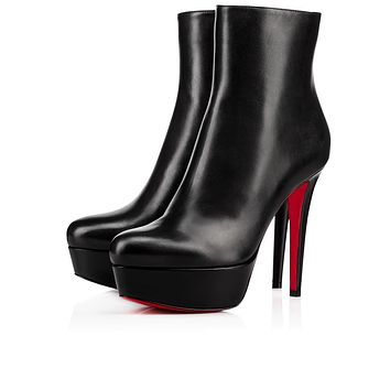Christian Louboutin Cl Bianca Booty Black Leather 16w Ankle Boots 3161197bk01 -