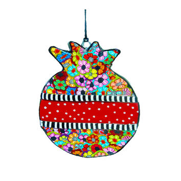 Wall hanging  pomegranate, polymer clay, decoration, wall decoration, wall art