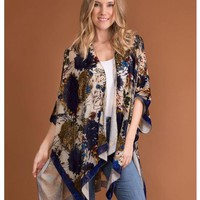 Floral Burn Out Cardi Wrap by Simply Noelle