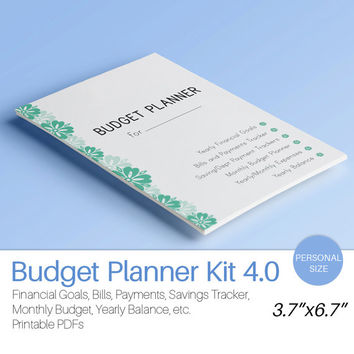 Personal Planner Insert BUDGET PLANNER Filofax Monthly Financial Binder Bills Savings Expenses Tracker printable 12 docs Instant Download