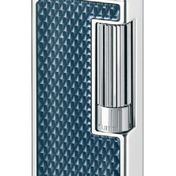 Dunhill Blue Tinted Lacquer Palladium Plated Lighter