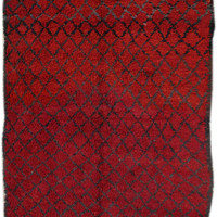 """DeeperStill - 6'8"""" x 10'2"""" - 2.03m x 3.10m - Vintage Beni Ourian Moroccan Rug - n.385"""