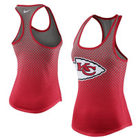 Women's Kansas City Chiefs Nike Gray New Day Tri-Blend Tank Top