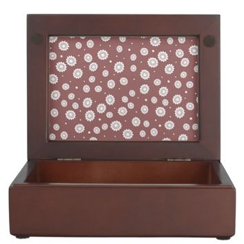 Mauve Sunflower Wooden Keepsake Box