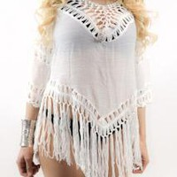 Hand-Crocheted Summer Blouse/Cover Up