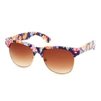 Tropical Print Half-Frame Shades: Charlotte Russe