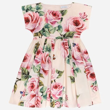 Printed Cotton Dress - Girl | Dolce&Gabbana