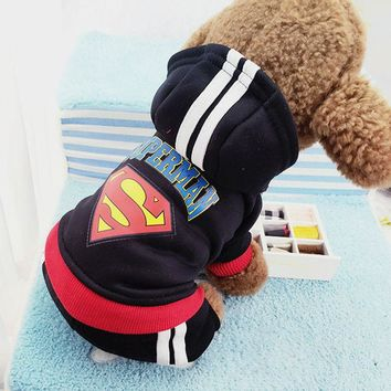 Fashion Dog Clothes Pet Costume Hoodie Coat Puppy Sport Teddy Jacket Clothing outfit for Small Dogs Chihuahua Clothes 25S2