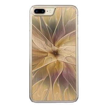 Floral Fantasy Pattern Abstract Fractal Art Carved iPhone 7 Plus Case