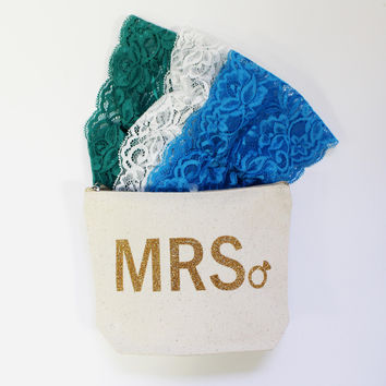MRS Diamond Ring Canvas Pouch