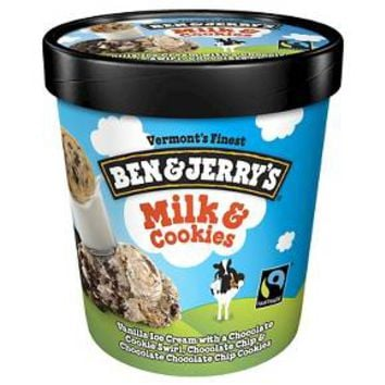 Ben & Jerry's Milk and Cookies Ice Cream 16 oz