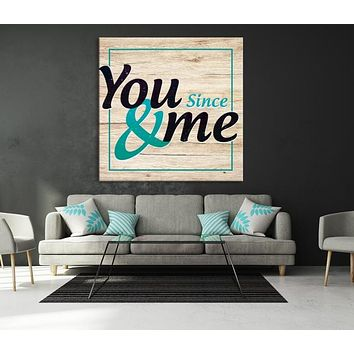 You and Me Custom House Wall Art Sign Canvas Print Personalized House Gift