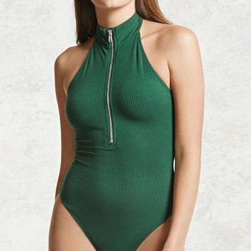 Halter Mock Neck Bodysuit