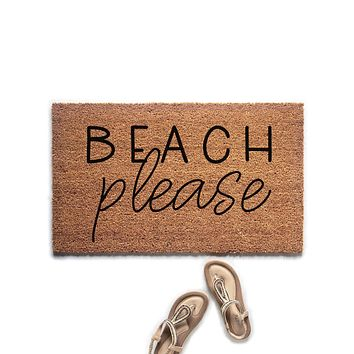 Beach Please Doormat