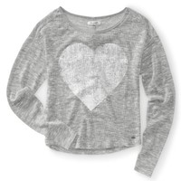 Heart Icon Boatneck Sweater Tee