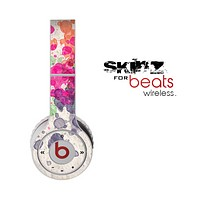 The Vintage WaterColor Droplets Skin for the Beats by Dre Wireless Headphones
