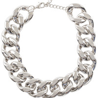 Misfit Chain Necklace Set - Silver