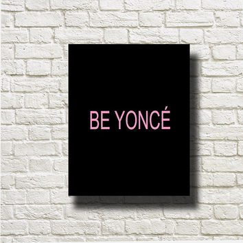 Beyonce Black Pink Printable Instant Download Print Poster Wall Art BW174bp