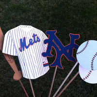 Photo booth props: The Ny Mets baseball team