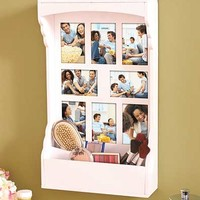Photo Collage Storage Shelf
