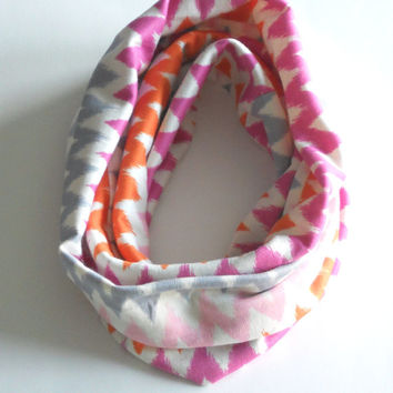 Chevron Toddler Infinity Scarf, Child Infinity Scarf, Kid Infinity Scarf, Loop Scarf, Tube Scarf, Circle Scarf, Drool Scarf Bib