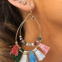 What A Girl Wants Earrings: Gold/Multi