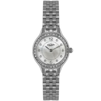 Rotary - Ladies' Stainless Steel Crystal Set Watch LB02866/06