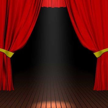 Printed Red Stage Curtains Backdrop - 2033