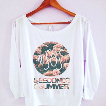 5SOS 5 Seconds Of Summer Wide-neck Shirt