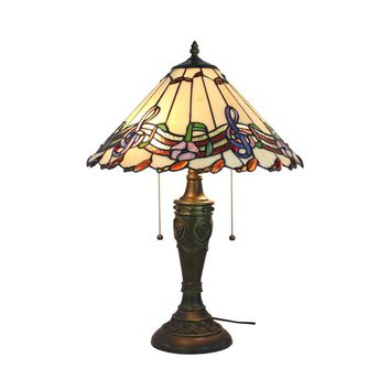 "Amora Lighting Home Decorative AM1101TL16 Musical Notes Tiffany Style Table Lamp 24"" Tall"