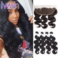 Online Shop Lace Frontal Closure With Bundles 7A Peruvian Body Wave With Closure Full Lace Frontal Closure Peruvian Virgin Hair Body Wave | Aliexpress Mobile