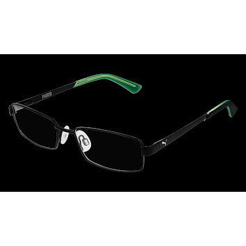 Puma - PJ0012O Black Green Eyeglasses / Demo Lenses
