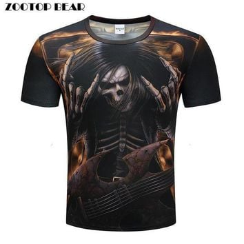 Heavy Metals T Shirts Men 3d T Shirts Hip Hop Tops Funny Rock Tees Skull Printed Tshirts Band Summer Casual Camiseta
