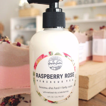 Raspberry Rose Hibiscus Tea - Shea & Avocado Body Cream