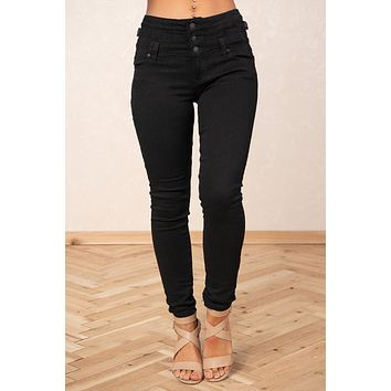 Girlfriend Material Mid Rise Jeans (Black)