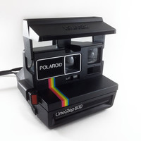 Vintage One Step 600 Polaroid Camera Works by ModernFiction