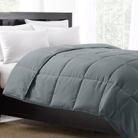 Grey Exquisite Hotel Collection Down Alternative Comforter / Twin Size