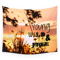 Society6 Young, Wild & Free Wall Tapestry