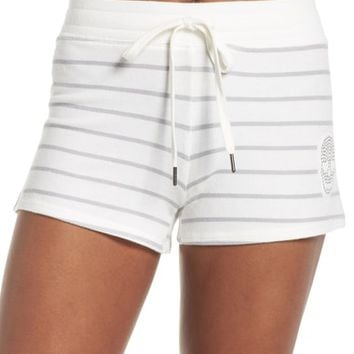 PJ Salvage Skull Stripe Lounge Shorts | Nordstrom