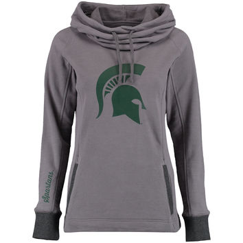 Michigan State Spartans Women's Laguna Cowl Neck Sweatshirt - Gray