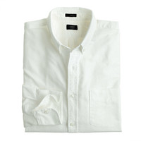 J.Crew Mens Slim Vintage Oxford Shirt In White