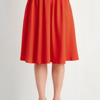 Breathtaking Tiger Lilies Skirt in Scarlet | Mod Retro Vintage Skirts | ModCloth.com