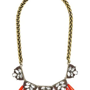 Women's BaubleBar 'Orinko' Statement Collar Necklace - Antique Gold